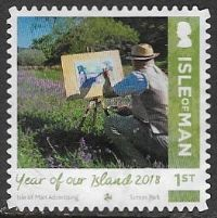 Isle of Man 2018 Year of Our Island 1st type 5 self adhesive good/fine used